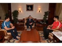 Rıza ve Taha'dan Mustafa Tuna'ya ziyaret