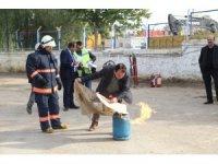 MESKİ personeline yangın söndürme eğitimi