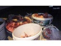 Çorlu'da araçta satılan kaçak etlere el konuldu