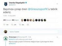 Medipol Başakşehir'den A.Ç Giresunspor için esprili paylaşım
