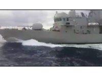 Yunan hücum botu Türk sahil güvenlik botuna çarptı