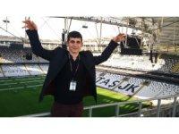 Adana'da minibüste darp edilen engelli Agit Acun Beşiktaş Vodafone Park'ı gezdi