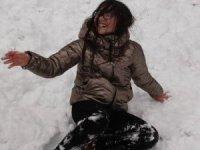 Sivas'ta çocukların kar keyfi