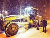 Hizan'da kar yağışı