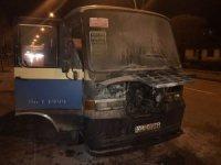 Başkent'te seyir halindeki dolmuş alev aldı