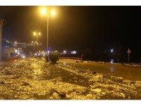 Zonguldak'ta dalgalar yıkıp geçti