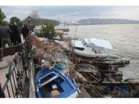 Dev dalgaların verdiği zararın boyutları sabah ortaya çıktı