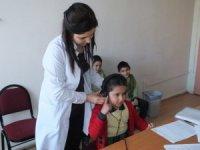 Milas'ta öğrenciler işitme testinden geçirildi