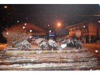 Akçadağ'da kar yağışı etkili oldu