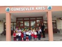 Karne alan çocuklardan Başkan Tiryaki'ye ziyaret