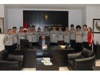Şampiyon sporcular başarılarını Kaymakam Kızıltoprak ile paylaştı