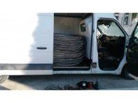 25 bin liralık bakır teli çalan hırsız jandarmadan kaçamadı