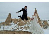 Çinli çiftler gelin damat fotoğrafı için Kapadokya'ya geliyor