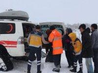 Köydeki hastaya paletli ambulansla ulaşıldı