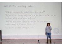 Saruhanlı'da 'Kadına karşı şiddete son' semineri