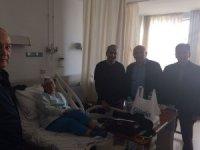 Çakırözer ve Ataç tur otobüsü kazasında yaralananları ziyaret etti