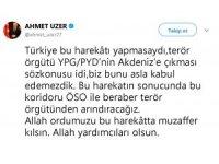 Milletvekili Uzer'den 'Afrin' değerlendirmesi
