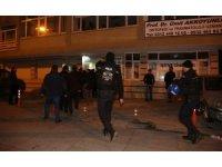 Polisi gören HDP'liler kaçtı
