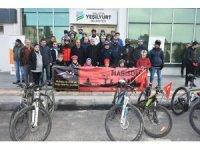 Sarıkamış şehitleri anısına bisiklet turu düzenlendi