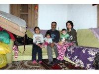 İlk eşi kazada, ikincisi zatürreden ölen adam evi yanınca çocuklarıyla ortada kaldı