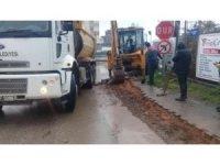 Körfez Belediyesi'nden Yarımca Sanayi Sitesi'nde yol genişletme çalışması