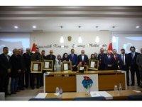 Giresun'da şehit aileleri ve gazilere 'Devlet övünç madalyası' törenle verildi