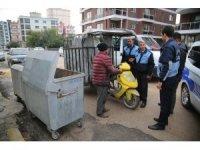 Erdemli Belediyesi zabıtasından kağıt toplayıcılarına operasyon