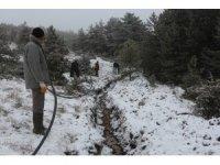 Dondurucu soğuk ve fırtına altında kuraklık önlemi