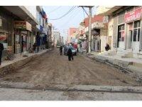 Silopi'de cadde onarım çalışmaları devam ediyor