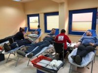 Çan 18 Mart Termik Santralinden kan bağışı