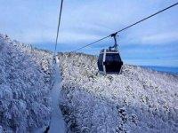 Uludağ'da teleferiğe şiddetli rüzgar engeli