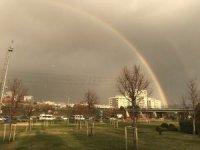 İstanbul'da çift gökkuşağı sürprizi