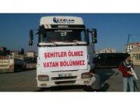 ''İzmir de Şehitlere Saygı Konvoyu''
