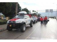 Osmaniye'de Zeytin Dalı Harekatı'na destek konvoyu