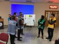Hastane çalışanlarına afet ve acil durum eğitimi