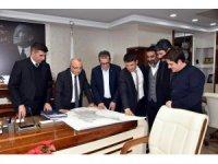 Başkanlar Salihli'ye yapılacak olan hastaneyi görüştü