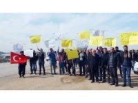 Dolandırılan çiftçiye üretici temsilcilerinden destek