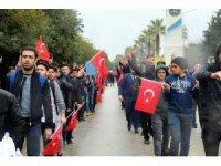 Antalya'da ülkücü gençler, Fırat Yılmaz Çakıroğlu için yürüdü