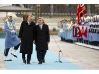 Cumhurbaşkanı Erdoğan, Makedonya Cumhurbaşkanı İvanov'u resmi törenle karşıladı