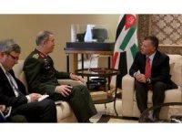 Genelkurmay Başkanı Akar, Ürdün Kralı II. Abdullah ile görüştü