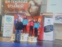 Belediyenin sporcuları Tekirdağ'dan 2 birincilikle döndü