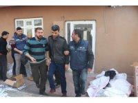 Aksaray'daki kaçak sigara operasyonunda 4 tutuklama