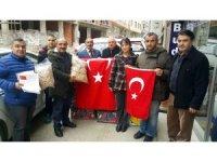 Afrin'de savaşan Mehmetçiğe Sinop'tan fındık