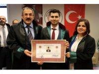Nevşehir'de mesleğe başlayan avukatlara ruhsatları verildi