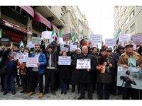 Rusya Başkonsolosluğu önünde 'Doğu Guta' protestosu
