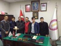 Gençlerden başkanlara 'Hayırlı olsun' ziyareti