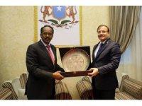Başbakan Yardımcısı Çavuşoğlu, Somali Cumhurbaşkanı Fermacu ile görüştü