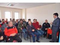 Sivasspor kulüp çalışanlarına yangın söndürme eğitimi verildi