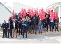 Elazığ'da gençlerden Zeytin Dalı Harekatına destek