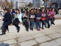CHP'li kadınlardan çocuk istismarını protesto etti